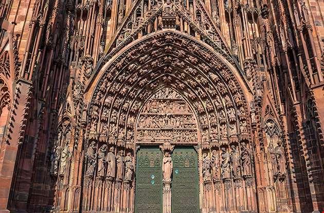 Cathedrale Notre Dame De Strasbourg In Alsace France-Cathedrale Notre Dame De Strasbourg In Alsace France