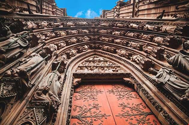 Notre Dame Of Strasbourg Cathedral Entrance-Notre Dame Of Strasbourg Cathedral Entrance