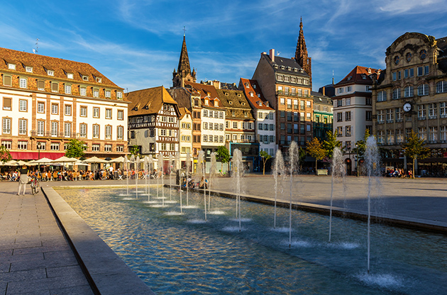 Place Kleber In Strasbourg Alsace France-Place Kleber In Strasbourg Alsace France