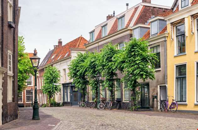 Beautiful Street In Utrecht Netherlands-Beautiful Street In Utrecht Netherlands