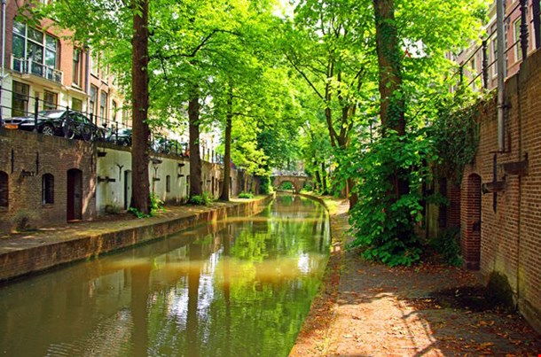 Utrecht Canals On A Sunny Day