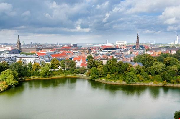 Above View on Center of Copenhagen
