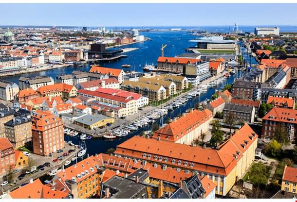 Aerial View Canals of Copenhagen
