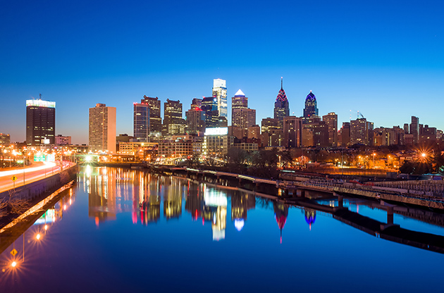 Downtown Skyline Of Philadelphia Pennsylvania-Downtown Skyline Of Philadelphia Pennsylvania