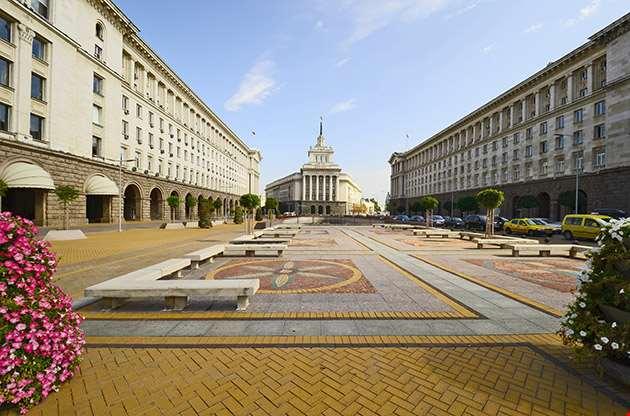Sofia Bulgaria Square Ploshtat Nezavisimost-Sofia Bulgaria Square Ploshtat Nezavisimost
