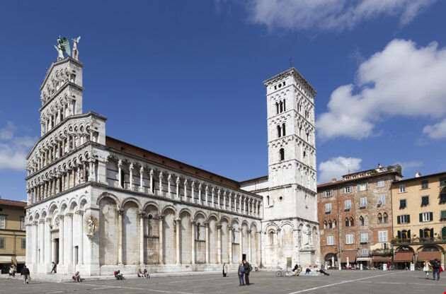 Lucca Italy The Cathedral Of Saint Michele-Lucca Italy The Cathedral Of Saint Michele