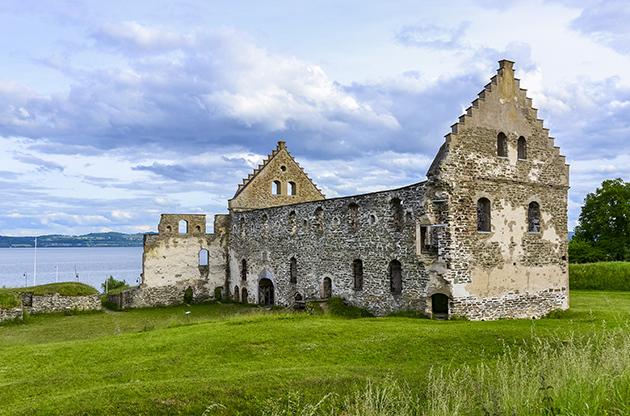 Ruins Of Visingsborg Castle In Visingso-Ruins Of Visingsborg Castle In Visingso