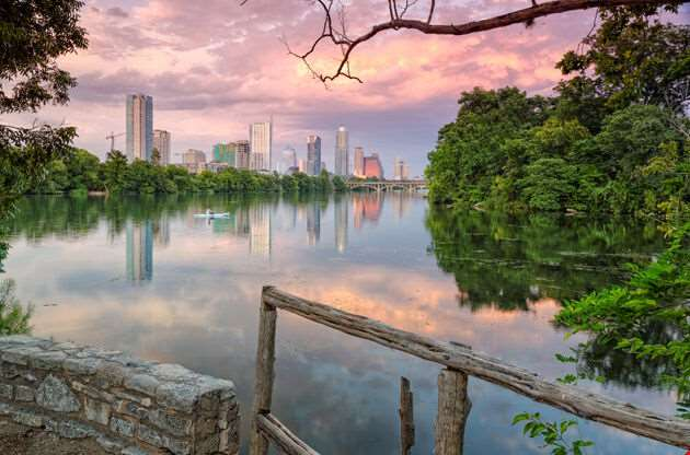 Downtown Austin From Lou Neff Point-Downtown Austin From Lou Neff Point