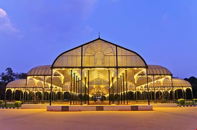 Night Scene Of Lalbagh Park In Bangalore City India-Night Scene Of Lalbagh Park In Bangalore City India