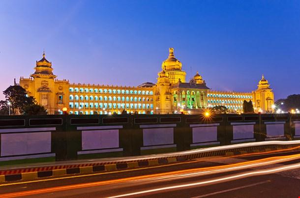 Vidhana Soudha The State Legislature Building In Bangalore India