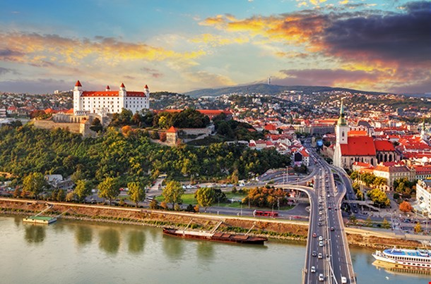 Bratislava At Sunset