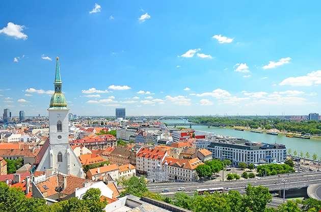 Bratislava Slovakia Top View-Bratislava Slovakia Top View