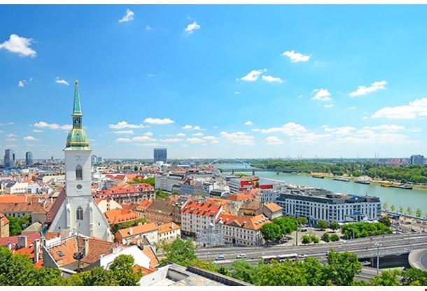 Bratislava Slovakia Top View