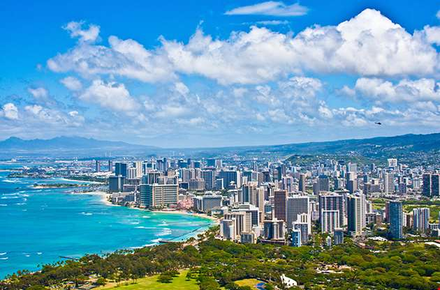 Beautiful Skyline Of Oahu Hawaii-Beautiful Skyline Of Oahu Hawaii