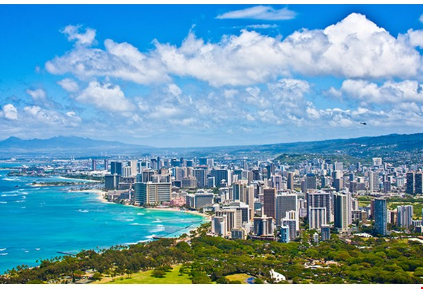 Beautiful Skyline Of Oahu Hawaii