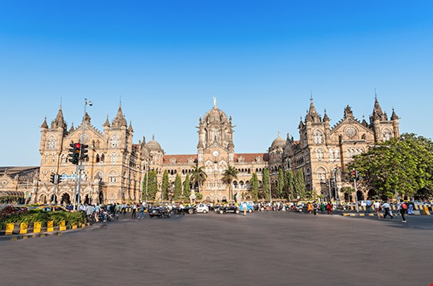 Chhatrapati Shivaji Terminus Is A Unesco World Heritage Site And An Historic Railway Station In Mumbai