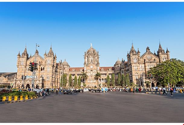 Chhatrapati Shivaji Terminus Is A Unesco World Heritage Site And An Historic Railway Station In Mumbai