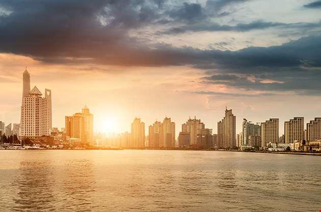 Mumbai City In The Setting Sun-Mumbai City In The Setting Sun