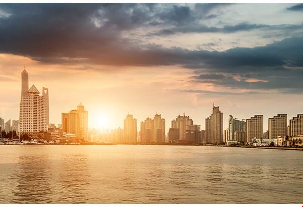 Mumbai City In The Setting Sun