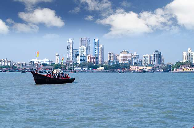 Mumbai India Skyline Scene-Mumbai India Skyline Scene