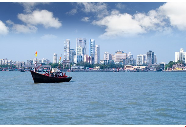 Mumbai India Skyline Scene