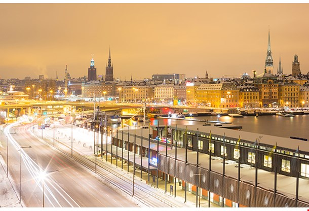 Stockholm Skyline Cityscape At Night