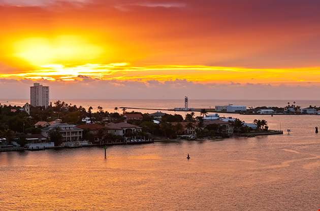 Sunrises In Port Everglades In Ft Lauderdale Florida-Sunrises In Port Everglades In Ft Lauderdale Florida