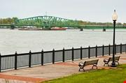 Detroit River Down Stream Bridge To Island Park-Detroit River Down Stream Bridge To Island Park