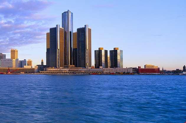 Detroit Sunrise Michigan-Detroit Sunrise Michigan