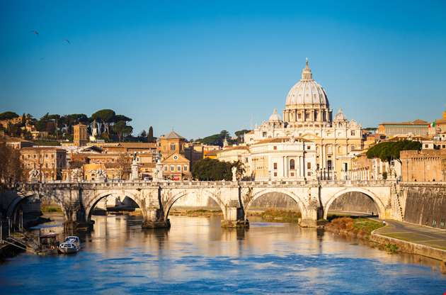 view-at-tiber-and-st-peters-cathedral-View at Tiber and St Peters Cathedral
