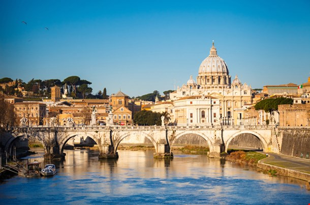 View at Tiber and St Peters Cathedral