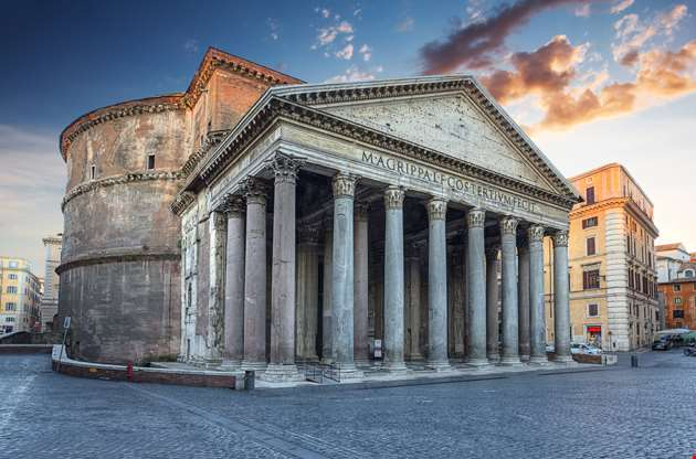 view-of-pantheon-in-the-morning-View of Pantheon in the Morning