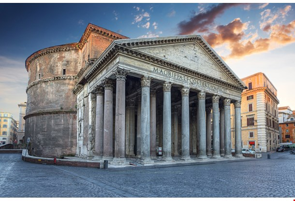 View of Pantheon in the Morning