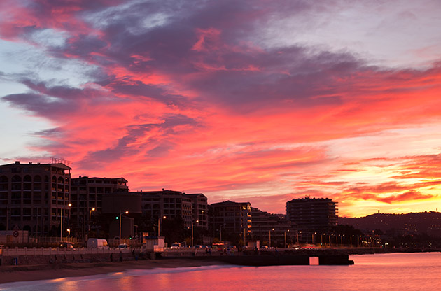 A Dramatic Sunrise Sky Pictured Captured In Cannes France-A Dramatic Sunrise Sky Pictured Captured In Cannes France