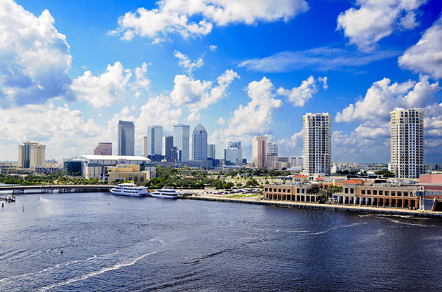 Cityscape Of Tampa Florida And The Harbor-Cityscape Of Tampa Florida And The Harbor