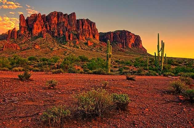 Desert And Mountains Near Phoenix Arizona-Desert And Mountains Near Phoenix Arizona