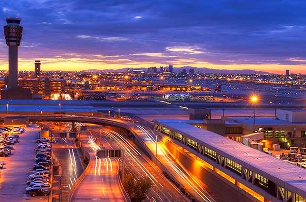 Phoenix Airport At Sunset-Phoenix Airport At Sunset