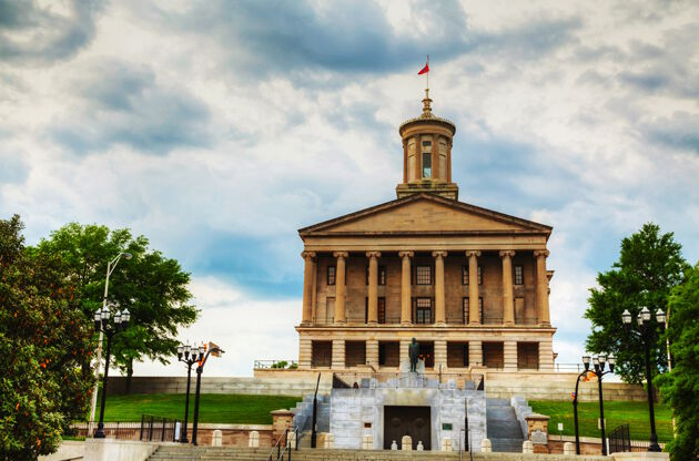 Tennessee State Capitol Building In Nashville-Tennessee State Capitol Building In Nashville
