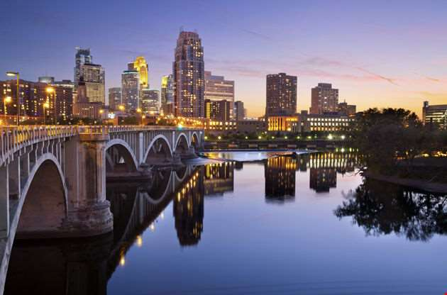 Minneapolis Image Of Minneapolis Downtown Skyline-Minneapolis Image Of Minneapolis Downtown Skyline