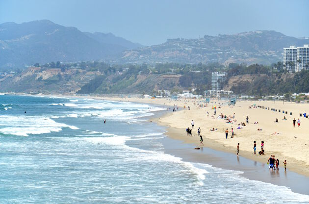 Santa Monica Beach Los Angeles-Santa Monica Beach Los Angeles