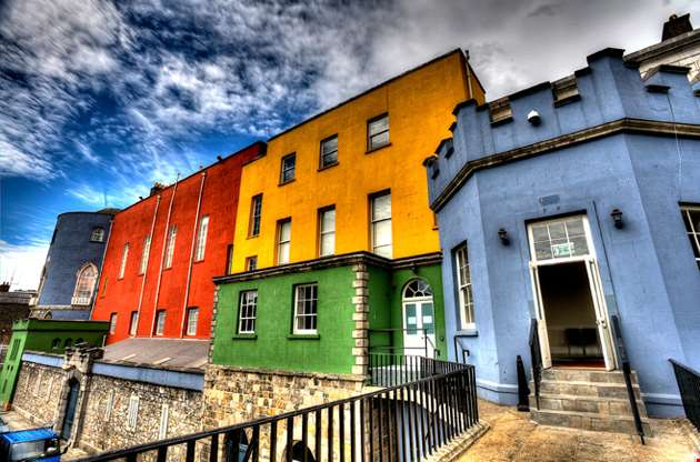colorful-buildings-dublin-castle-Colorful Buildings Dublin Castle