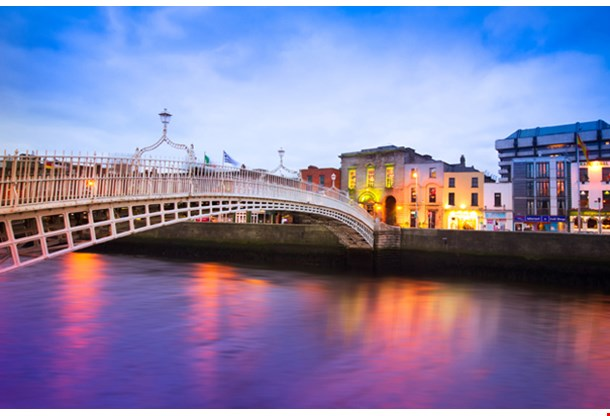 Dublin at Dusk With Waterfront