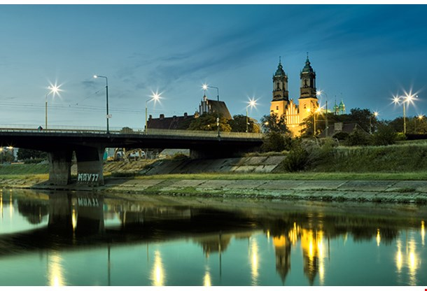 Archicathedral Basilica Of St Peter And St Paul In Poznan And Warta River In Poland