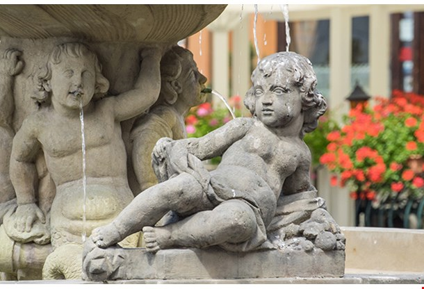 Fountain Depicting The Goddess Proserpina On Old Market Square In Poznan