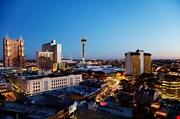 San Antonio Downtown Just After Sunset-San Antonio Downtown Just After Sunset