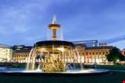 Fountain At Neues Schloss In Stuttgart City Center-Fountain At Neues Schloss In Stuttgart City Center