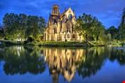 St John S Church At The Evening In Stuttgart Germany-St John S Church At The Evening In Stuttgart Germany