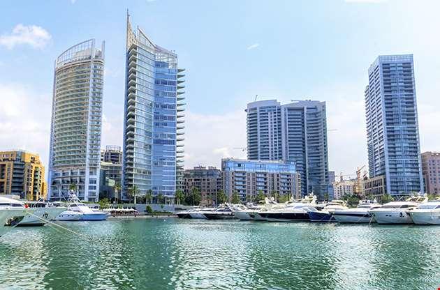 A View Of The Beautiful Marina In Zaitunay Bay In Beirut Lebanon-A View Of The Beautiful Marina In Zaitunay Bay In Beirut Lebanon