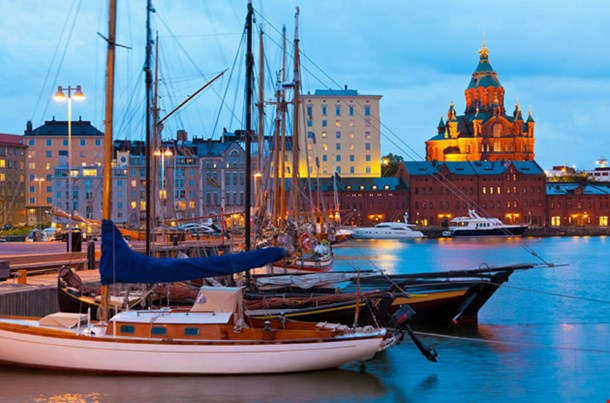 Old Port In Katajanokka District Of Helsinki