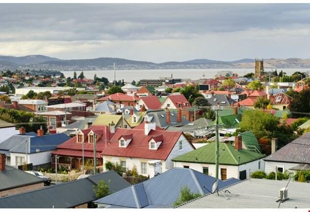 Colorful Rooftops Hobart Tasmania Australia